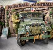 Cabina de la exposición de Paintball Foto de archivo
