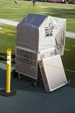 Cabina de la respuesta inmediata del fútbol americano del NFL Imagen de archivo libre de regalías