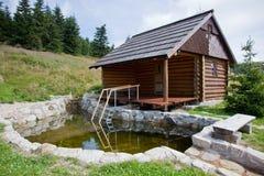 Cabina de la sauna Imágenes de archivo libres de regalías