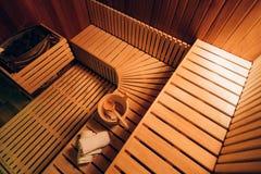 Cabina de la sauna Fotografía de archivo libre de regalías