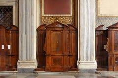 Cabina de las confesiones Imagen de archivo