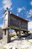 Cabina de los pesebres del maíz, Portugal Fotos de archivo libres de regalías