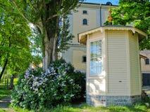 Cabina de madera en Estocolmo (Suecia) imagen de archivo