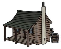 Cabina de madera vieja divertida