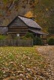 Cabina de registro, granja pionera de Oconaluftee imagen de archivo libre de regalías