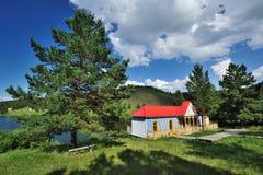 Cabina de registro roja Foto de archivo libre de regalías