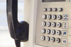 Cabina de teléfono Imágenes de archivo libres de regalías