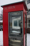 Cabina de teléfono Fotografía de archivo