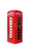 Cabina de teléfono aislada de Londres fotografía de archivo libre de regalías