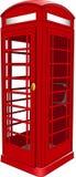 Cabina de teléfono británica Foto de archivo libre de regalías