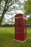 Cabina de teléfono británica Imagen de archivo libre de regalías