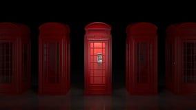 Cabina de teléfono británica en Londres Fotos de archivo libres de regalías