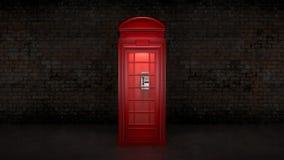 Cabina de teléfono británica en Londres Imagenes de archivo