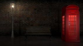 Cabina de teléfono británica en Londres Fotografía de archivo