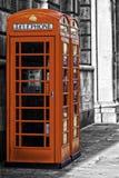 Cabina de teléfono británica roja Fotografía de archivo