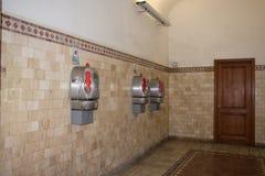 Cabina de teléfono en Siena TELECOM ITALIA Fotografía de archivo
