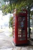 Cabina de teléfono inglesa Imagen de archivo