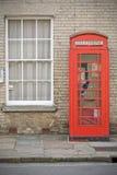 Cabina de teléfono inglesa Fotografía de archivo libre de regalías