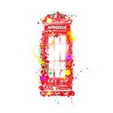 Cabina de teléfono inglesa Imagen de archivo libre de regalías