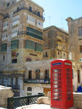 Cabina de teléfono inglesa roja Fotografía de archivo libre de regalías