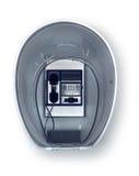 Cabina de teléfono retra Imagenes de archivo