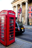 Cabina de teléfono roja Fotos de archivo