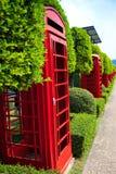 Cabina de teléfono roja Fotos de archivo libres de regalías