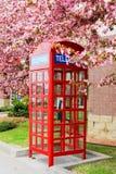 Cabina de teléfono roja Foto de archivo