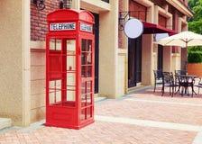 Cabina de teléfono roja Foto de archivo libre de regalías