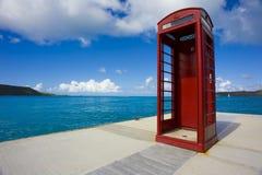 Cabina de teléfono roja Fotografía de archivo libre de regalías