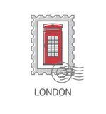 Cabina de teléfono roja de Londres Fotografía de archivo