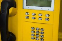 Cabina de teléfono vieja Fotografía de archivo libre de regalías