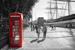 Cabina de teléfonos Fotografía de archivo libre de regalías