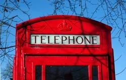 Cabina de teléfonos británica Imagen de archivo libre de regalías