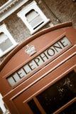 Cabina de teléfonos británica Imágenes de archivo libres de regalías