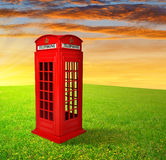 Cabina de teléfonos británica Fotos de archivo