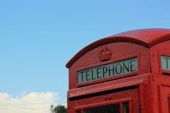 Cabina de teléfonos británica Fotografía de archivo