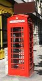 Cabina de teléfonos británica Fotos de archivo libres de regalías