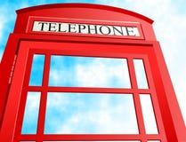 Cabina de teléfonos británica ilustración del vector