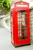 Cabina de teléfonos británica Imagen de archivo