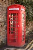 Cabina de teléfonos roja Imágenes de archivo libres de regalías
