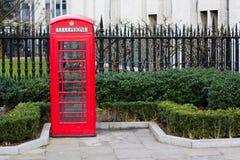 Cabina de teléfonos roja Foto de archivo libre de regalías