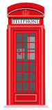 Cabina de teléfonos roja Imagenes de archivo