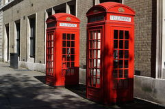 Cabina de teléfonos roja Imagen de archivo libre de regalías