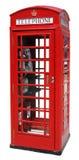 Cabina de teléfonos roja aislada Fotos de archivo