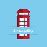 Cabina de teléfonos roja de Gran Bretaña Imágenes de archivo libres de regalías