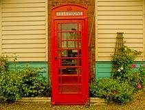 Cabina de teléfonos vieja Fotografía de archivo