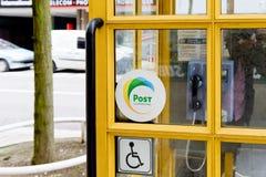 Cabina de teléfono de Luxemburgo de los posts Fotografía de archivo