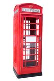 Cabina de teléfono roja Imagen de archivo libre de regalías