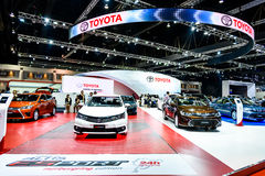 Cabina de Toyota en el 36.o salón del automóvil del International de Bangkok Fotografía de archivo